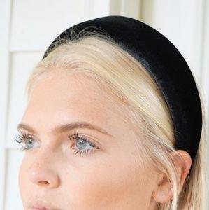 Black Velvet Padded Headband